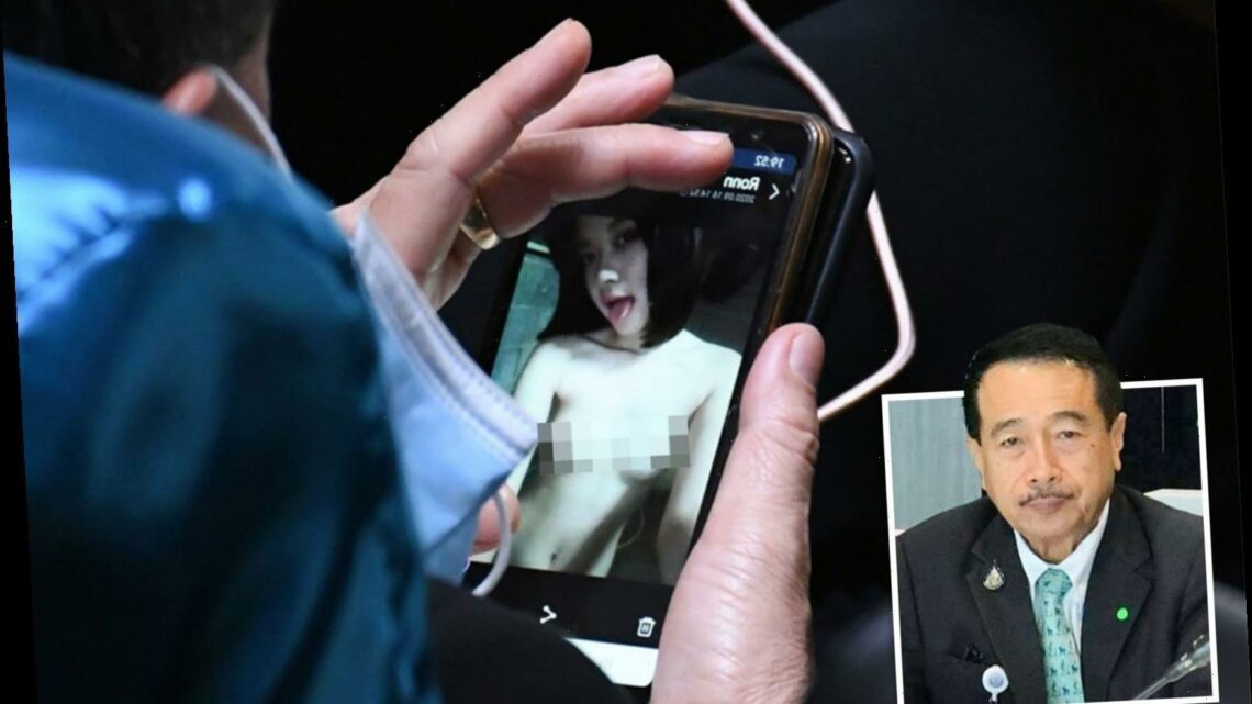 Thai MP left red-faced after being caught looking at PORN on his phone
