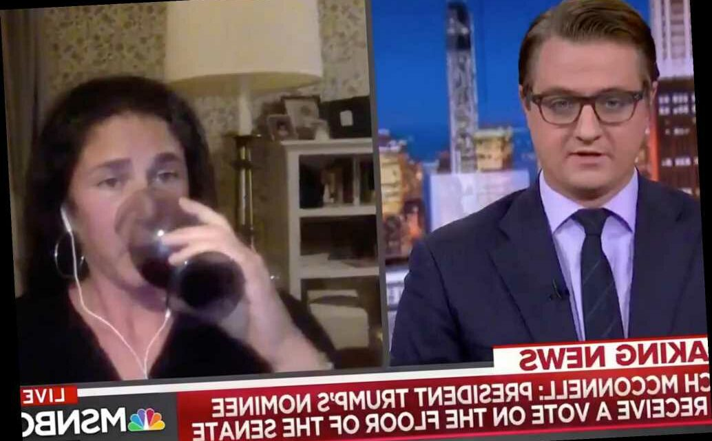 MSNBC commentator appears to drink wine on camera while discussing Ruth Bader Ginsburg