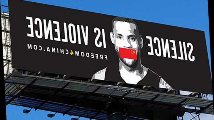 Billboard company refuses to post ad critical of LeBron James' stand on China