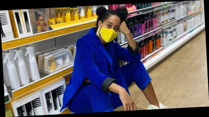 Outfit Obsession: Tracee Ellis Ross Ups the Ante For Sneakerheads With Her Matching Mask