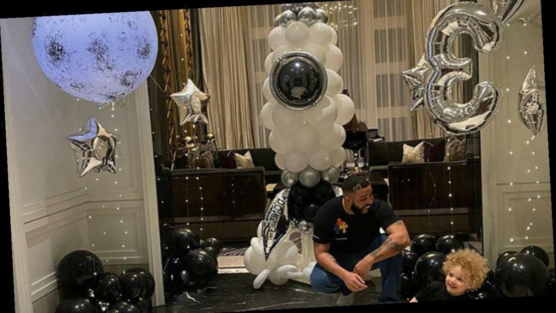 Drake Celebrates Son Adonis' Third Birthday With Grandparents