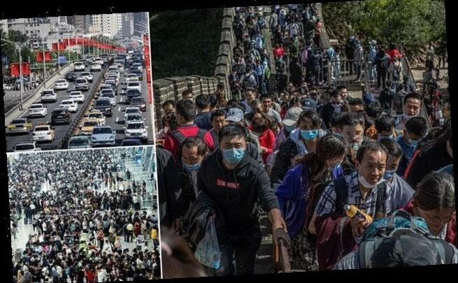 Hundreds of millions of Chinese rush to take their first major holiday