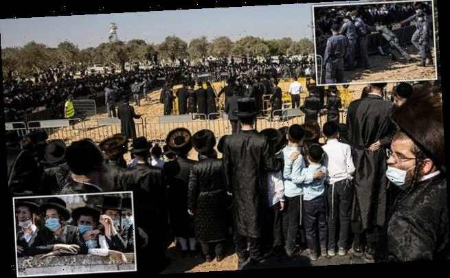 Israel's ultra-orthodox defy lockdown and clash with police at funeral