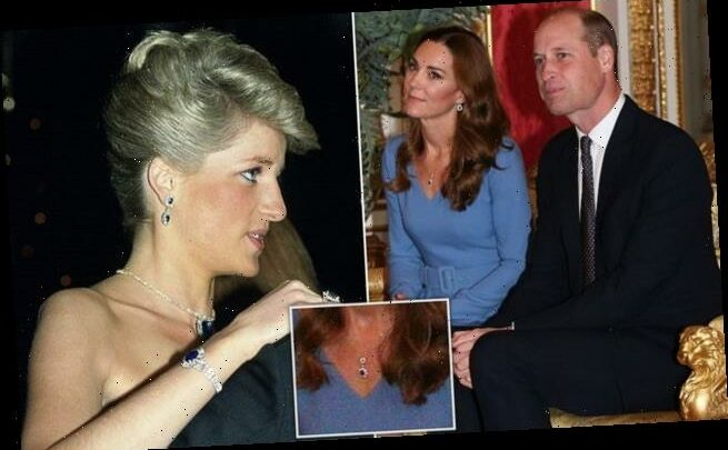 Kate Middleton donned new pendant  from Princess Diana's earrings