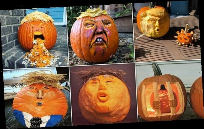 Social media users carve their pumpkins to resemble Donald Trump