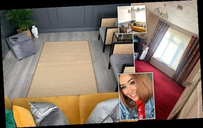 Savvy homeowner gives dated living room a modern makeover for £2, 000