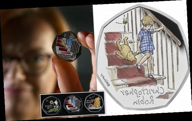 Christopher Robin become the latest character to appear on a 50p coin