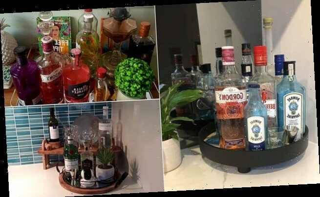 Women are now creating chic GIN stations in their kitchens