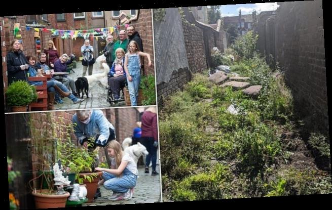 Neighbours transform rat-infested alleyway into community space