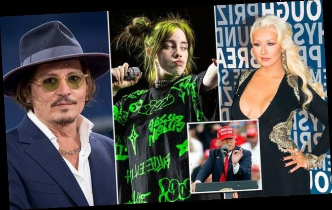 Billie Eilish among many celebrities DROPPED from Trump ad campaign