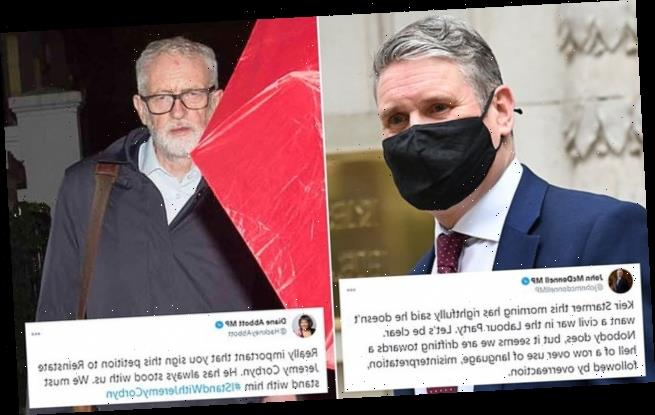 Keir Starmer warned of 'a hell of a row' over Jeremy Corbyn suspension