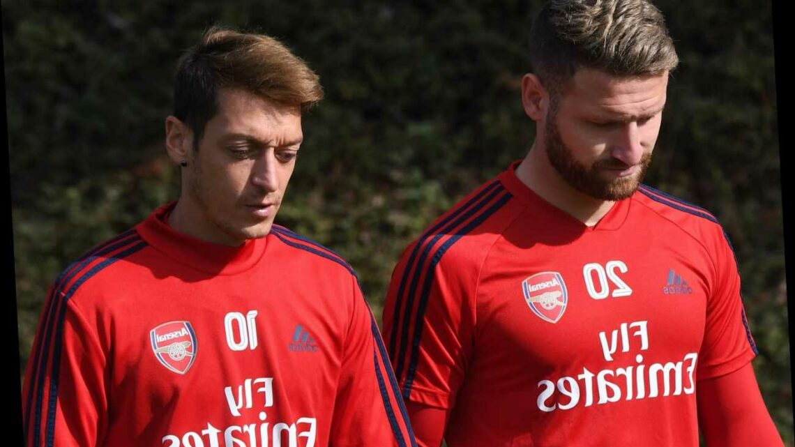Mesut Ozil training 'best he can' after Arsenal axe as Shkodran Mustafi reveals disappointment over his exile