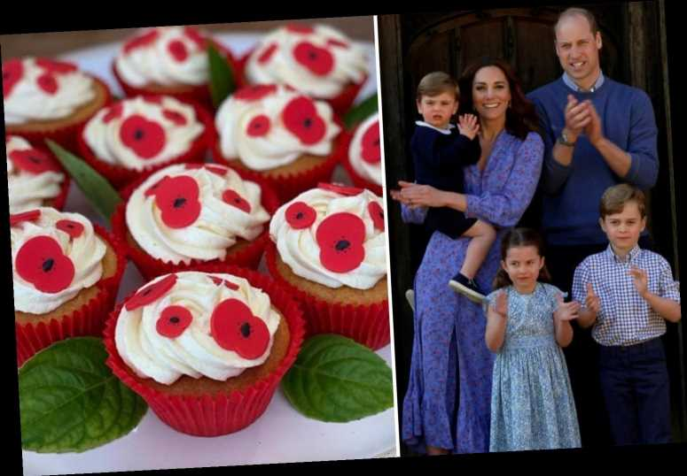 Prince William, Kate and the kids bake cupcakes for Poppy Appeal