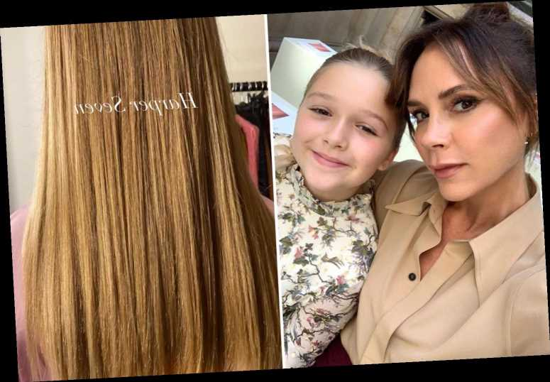 Victoria Beckham treats daughter Harper, 9, to haircut at £360 posh salon