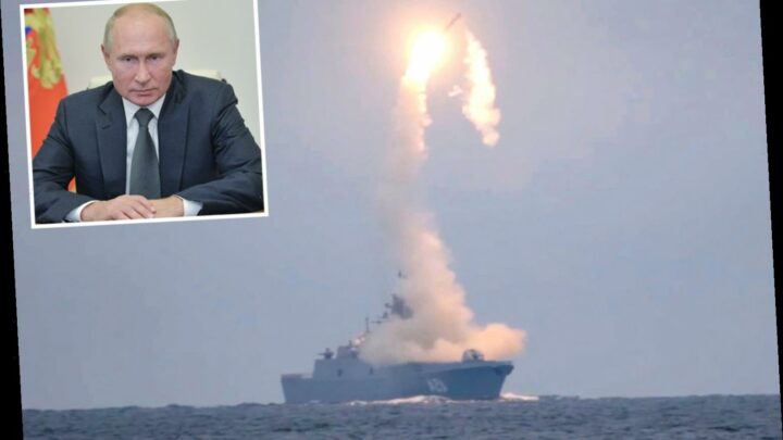 Putin celebrates 68th birthday with launch of 'unstoppable' 4,600mph Zircon hypersonic missile that can hit US cities