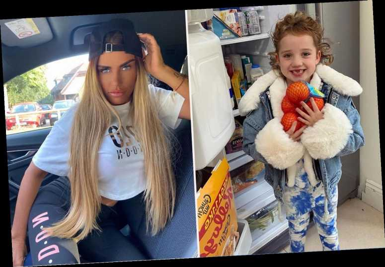 Katie Price fans baffled after spotting cereal chilling in her fridge in cute picture of daughter Bunny, 6