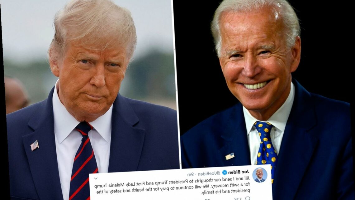 What did Joe Biden say to Trump after he tested positive for coronavirus?
