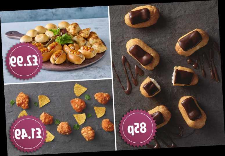 Aldi's Christmas buffet food includes mini hotdogs, eclairs and chicken bites