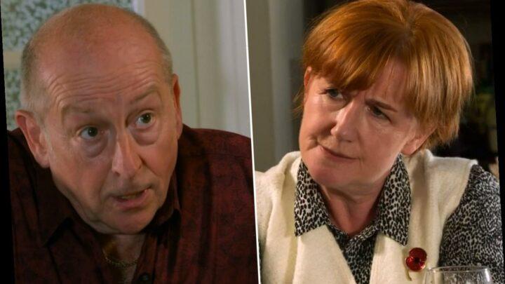 Coronation Street fans horrified as Geoff Metcalfe reveals his new victim girlfriend Christine