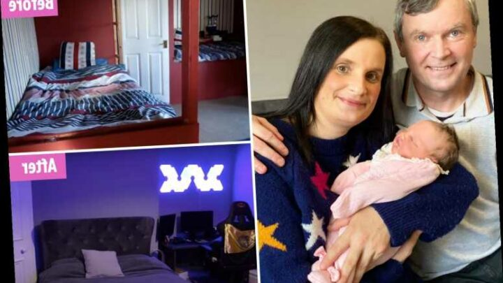 Sue Radford shows off her sons' new grey bedroom and with 22 kids she knows a thing or two about space saving solutions