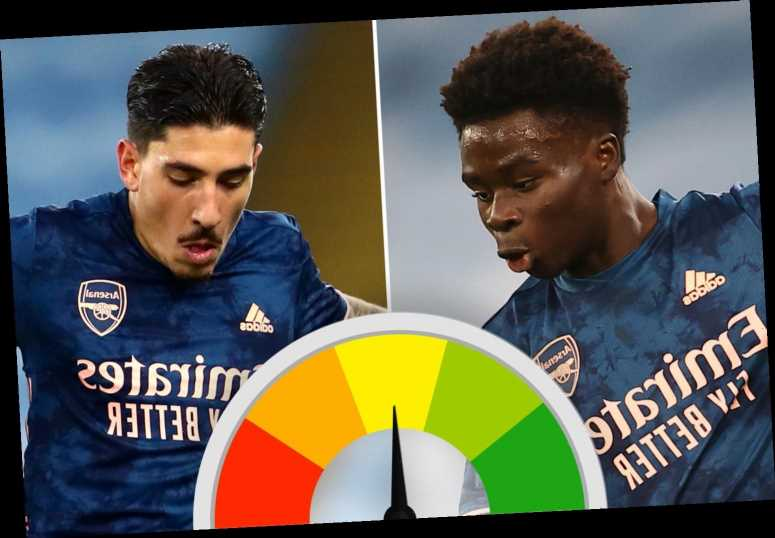 Arsenal ratings: Bukayo Saka impresses again but Hector Bellerin disappoints as Gunners slip to 1-0 defeat at Man City