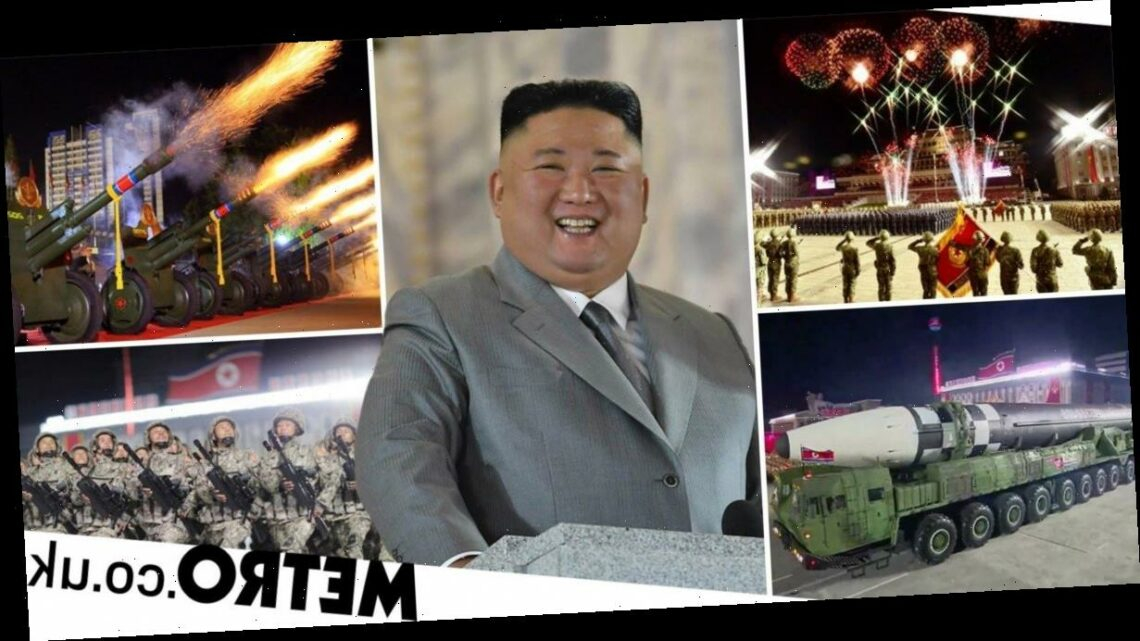 North Korea shows off 'monster' missile at huge military parade