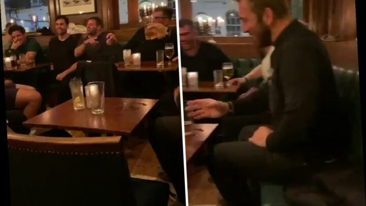 Watch as boozed-up Chris Robshaw and Barbarians Covidiots break coronavirus rules in pub before axed England clash