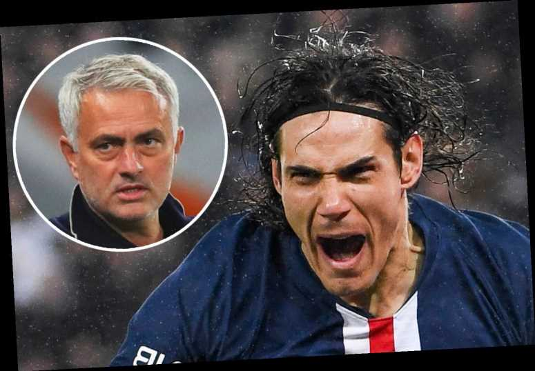 Mourinho expects Man Utd transfer market reaction after Tottenham loss and brands Cavani 'one of top strikers in world'