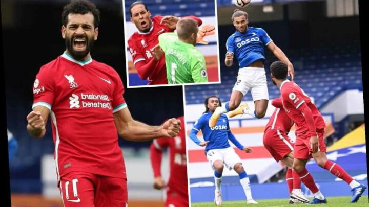 Everton 2 Liverpool 2: Calvert-Lewin power header claws Toffees back into thrilling derby as Henderson winner disallowed
