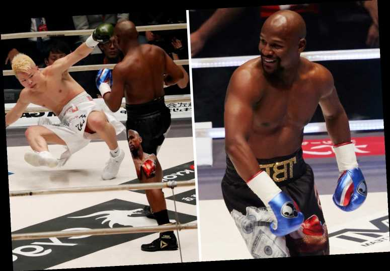 Floyd Mayweather reveals he was overweight for fight vs kickboxer Tensin Nasukawa and was told to 'really go at it'