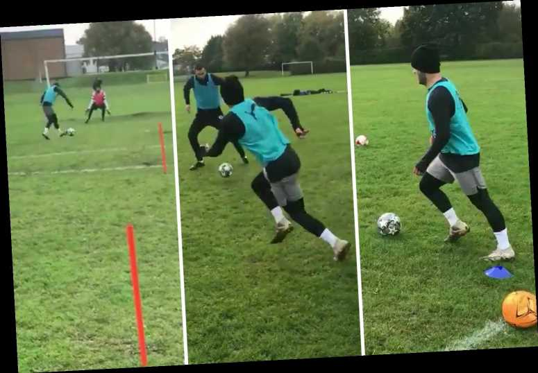 Jack Wilshere trains in local park to keep fit as injury-plagued ex-Arsenal searches for new club after West Ham axing