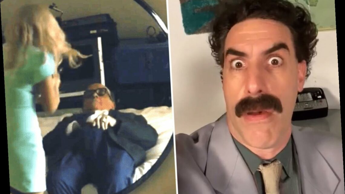 What was Rudy Giuliani doing in the Borat video?