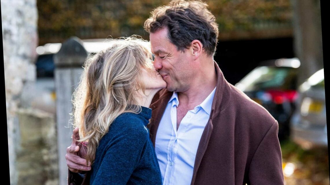 'Arrogant but awkward' Dominic West & wife put on 'toe-curling display of denial' with kiss, says body language expert