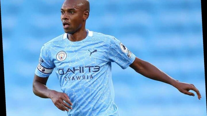 Man City injury boost with Fernandinho set to return within a month despite fears he would miss six weeks