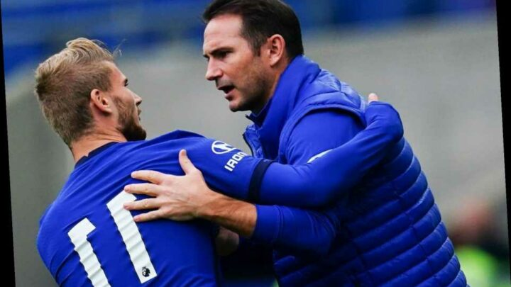 Frank Lampard insists he has 'no worries' over Timo Werner's form as £53m striker continues up-and-down seasons start