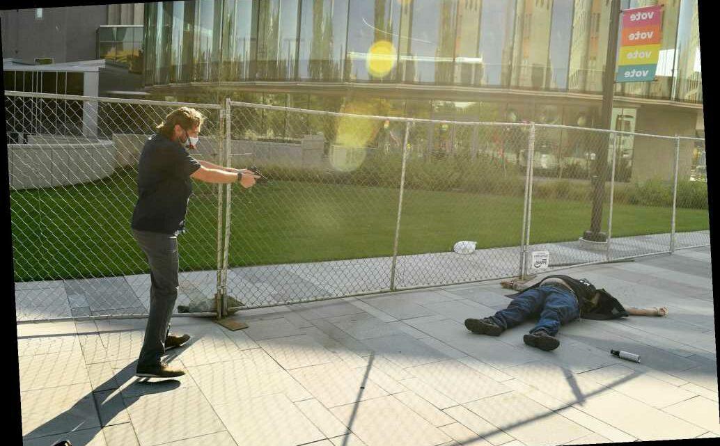 Photos capture moment Lee Keltner is shot dead amid dueling Denver protests