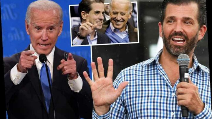 Donald Trump Jr slams Biden as 'most corrupt and compromised candidate in the history of American presidential politics'