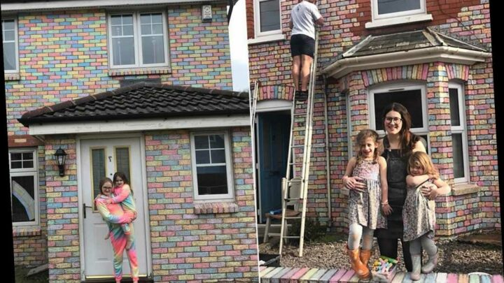 People spend hours turning houses rainbow during COVID-19 lockdown