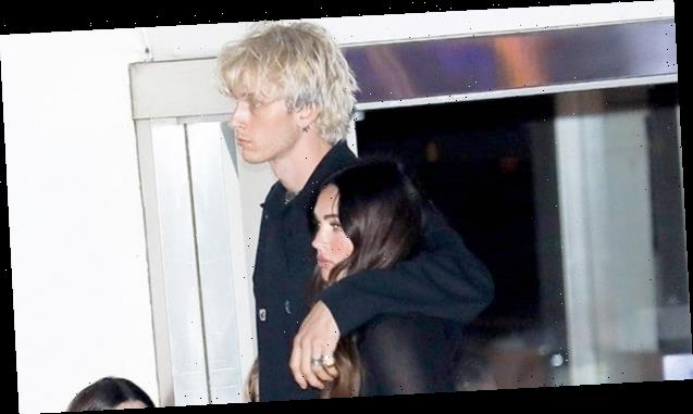 Machine Gun Kelly Protectively Wraps An Arm Around Megan Fox On New Date Night — Pics