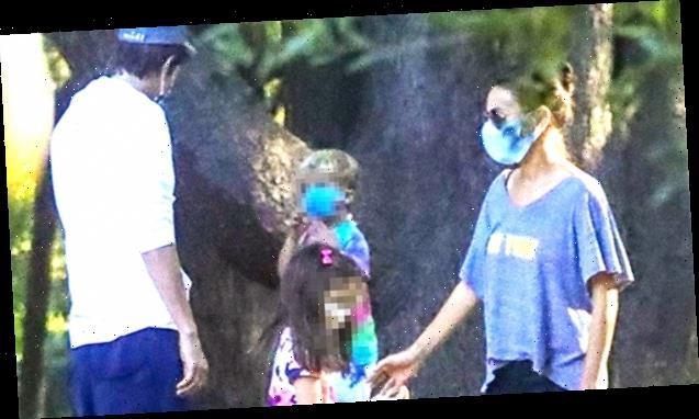 Mila Kunis & Ashton Kutcher Bond With Adorable Daughter Wyatt, 6, On Family Hike – Pics