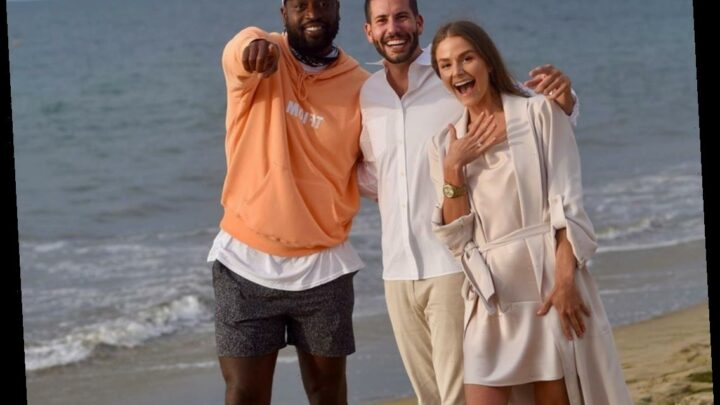 Dwyane Wade Accidentally Photobombing This Couple's Proposal Is Simply the Best