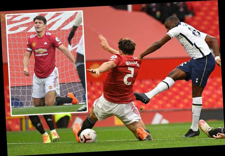 Watch horror Harry Maguire gaffe as Man Utd captain gifts Spurs their first goal and appears to take out Luke Shaw