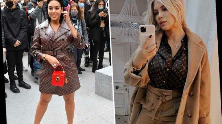Ronaldo's partner Georgina Rodriguez and Wanda Icardi stun in matching Louis Vuitton outfits for Paris fashion show