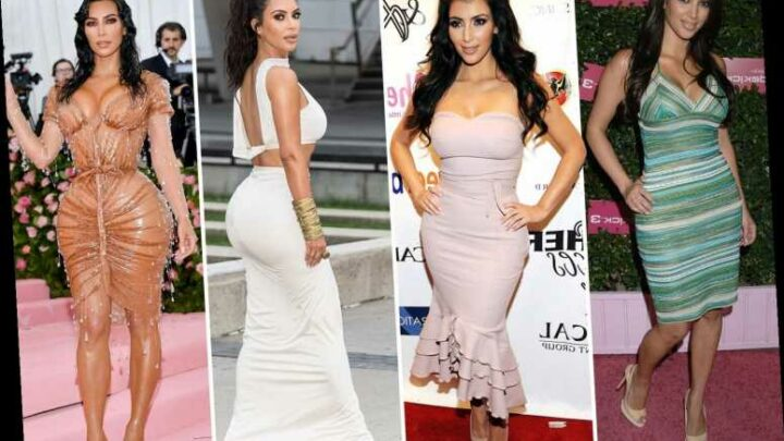 How Kim Kardashian's face and body changed since hitting the headlines in 2006