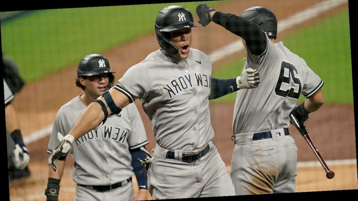 Stanton, Yankees power way to 9-3 win against Rays in opener