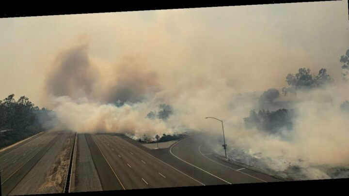 100,000 people ordered to evacuate due to wildfires in Irvine, California
