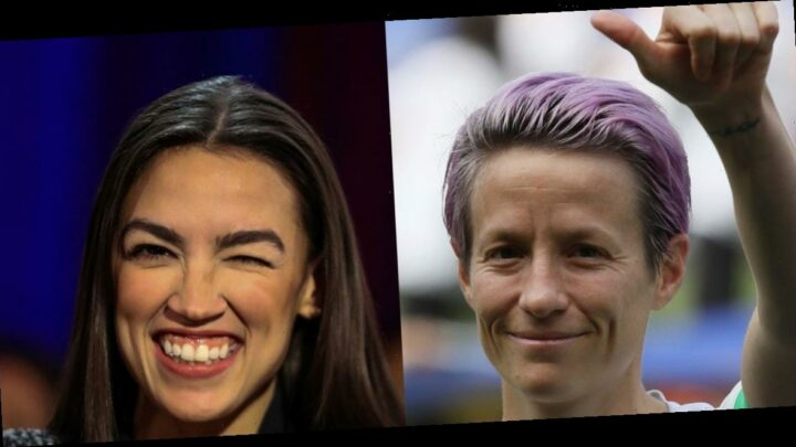 Megan Rapinoe approved of AOC's use of explicit language in a quote, adding 'sometimes a good old fashioned MFer is the only way'