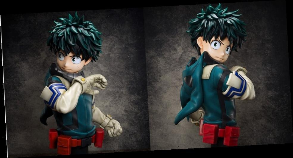 FuRyu's 1/1 Life-Size Bust of Izuku Midoriya from 'My Hero Academia' Costs $5,000 USD