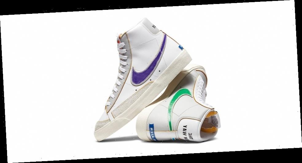"""Nike Blazer Mid '77 """"Label Maker"""" Features Mismatching Feet, Rub-Off Swooshes and More"""
