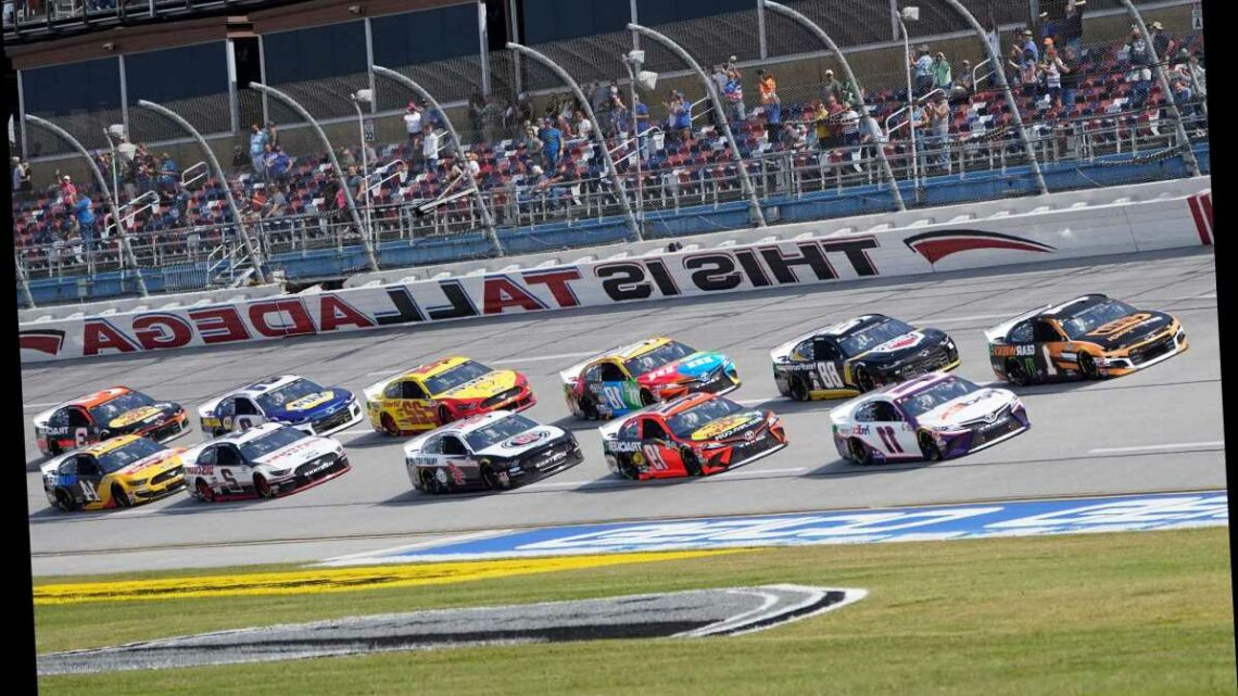 Talladega briefly stopped after 13-car crash and wall damage
